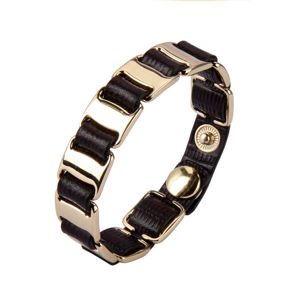 Jenia Italian Leather Bracelet Wrap Bracelets Charm Wristband Handmade Jewelry for Women, Wife, Teen Girl Gifts with Adjustable Buttons