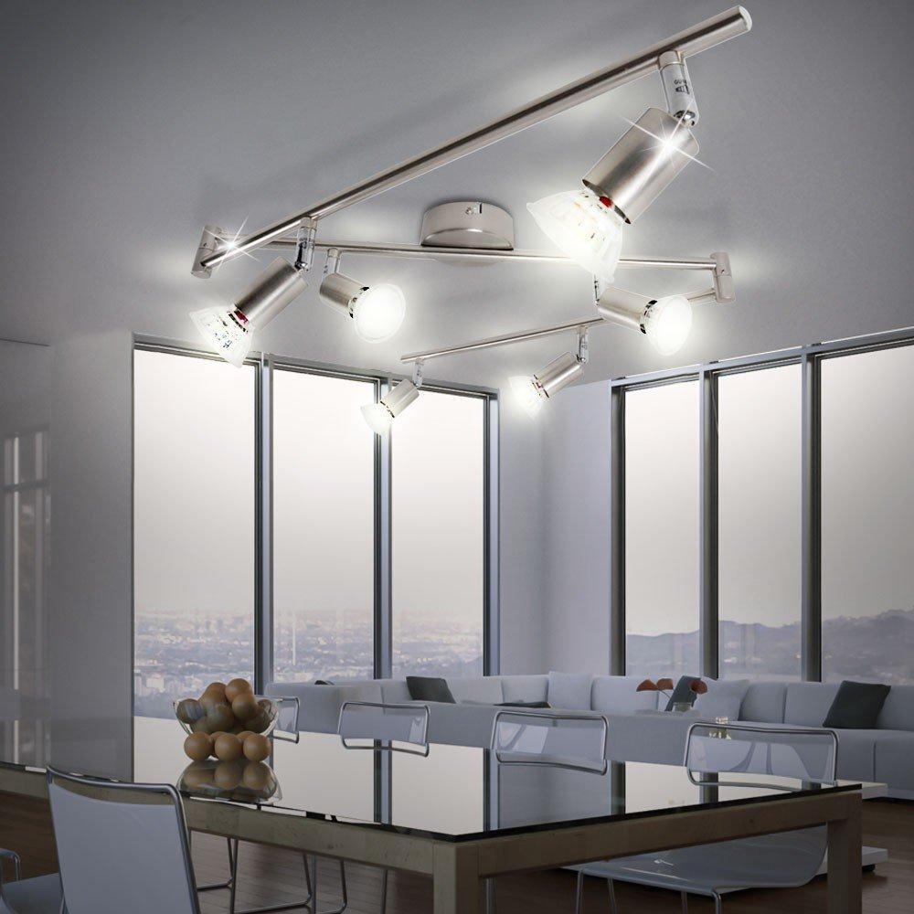 Led deckenleuchte 6 flammig matrix amazon beleuchtung parisarafo Images
