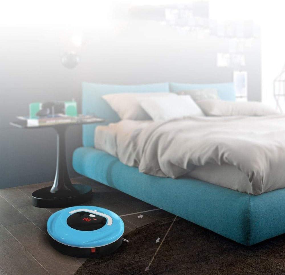 LIAN Mini Robot De Nettoyage De Plancher sans Fil Domestique Entièrement Automatique Intelligent,Green Blue