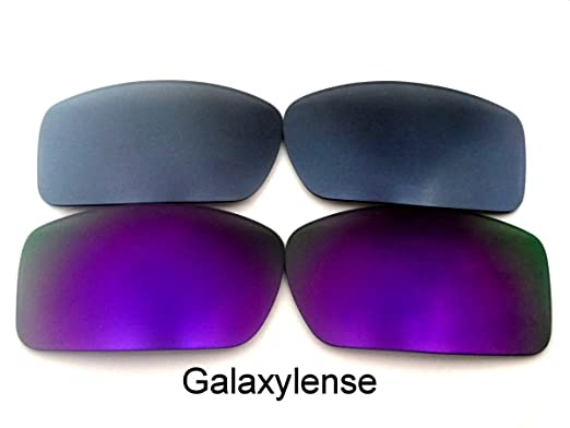 b8269f05e3 Galaxylense Replacement Lenses for Oakley Gascan Purple Gray Color  Polarized 2 Pairs