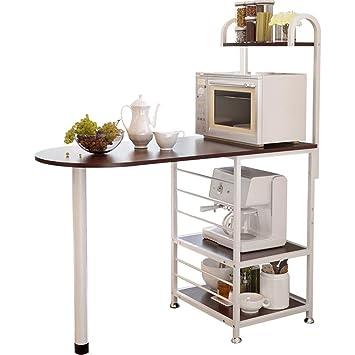 Mikrowellenhalter Mikrowelle Regal 2 Ablage Küchen Rack Ständer Halter Metall DE