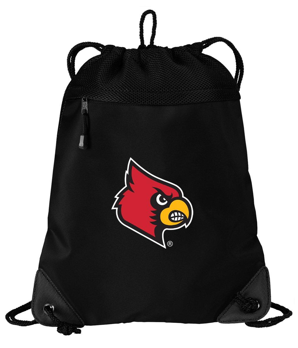 Broad Bay Louisville Cardinals Drawstring Bag University of Louisville Cinch Pack Backpack UNIQUE MESH & MICROFIBER