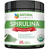 USDA Organic Spirulina Powder - Highest Quality Of Blue Green Algae From California & Hawaii – 100% Vegetarian & Vegan, Non-GMO, Non-Irradiated, & Gluten Free – The Best Green Superfood For Smoothies!