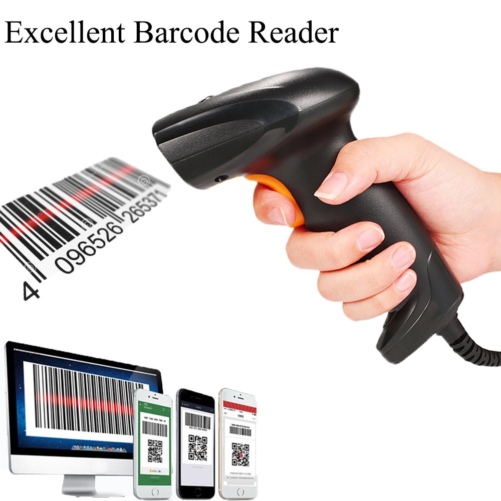 BQ-101 CCD Screen Barcode Scanner Mobile Payment Reader USB Cable Directly Use On Retails Stores Windows Android POS System