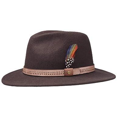 83e495f5007 Lanta Woolfelt Traveller Hat Stetson felt hat men´s hat (XXL 62-63 -  brown)  Amazon.co.uk  Clothing
