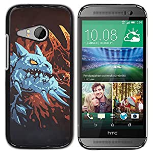 iKiki Tech / Estuche rígido - Dragón azul - HTC ONE MINI 2 / M8 MINI