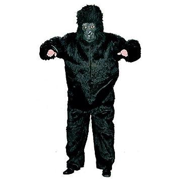 Peluche Mono Mono Disfraz Gorilla King Kong Negro Mono Disfraz Animales Disfraz verkleidung Outfit Soltero