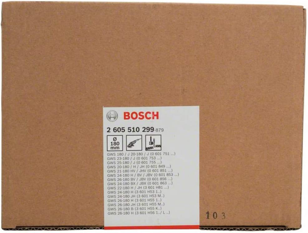 Silver with Coding Bosch 2605510299 Cut-Off Protective Guard 180 mm
