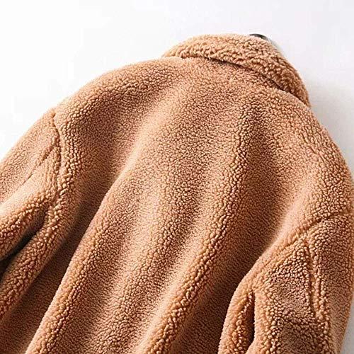 Mujeres Larga Aire Gruesa Moda Al Punto Invierno Cálida Señoras Sólida Las Casual Chaqueta Ocio Manga Escudo Bolsillos De Zhrui Libre Abrigo UnHx7wqvY0