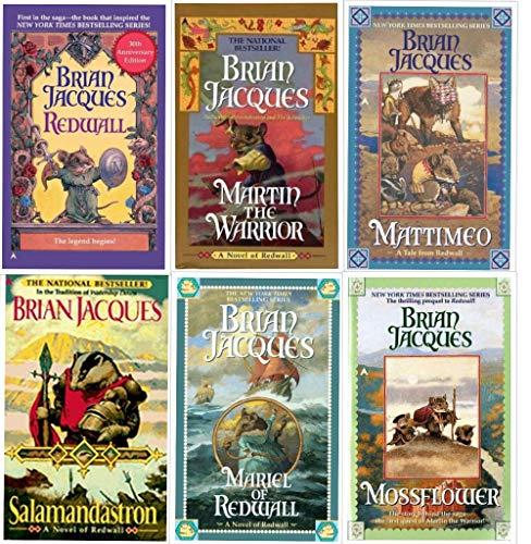 Redwall Book - Brian Jacques Redwall Series 1-6 (Redwall, Mossflower, Mattimeo, Mariel of Redwall, Salamandastron, Martin the Warrior)