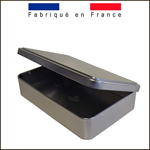 Massilly Caja Rectangular Plate Hierro Blanco - ba000829: Amazon ...