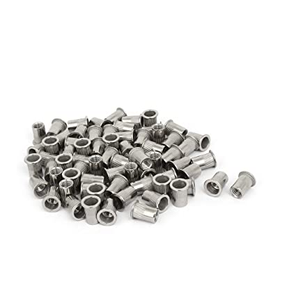TOUHIA 3//8-16 Stainless Steel Hex Serrated Flange Nuts 20 Pcs