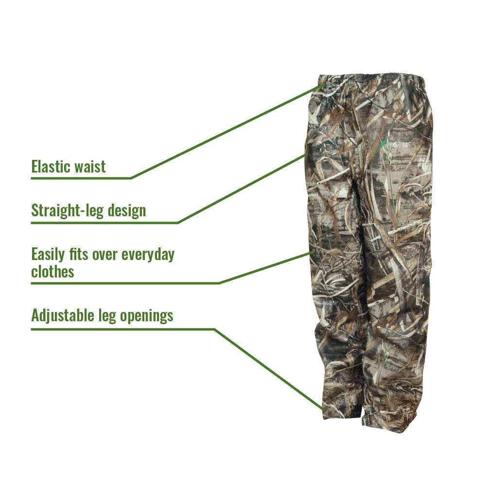 Frogg Toggs Frogg Toggs All Sport Rain Suit, Realtree Max-5, Size Small All Sport Rain Suit, Realtree Max-5, Small by Frogg Toggs (Image #3)