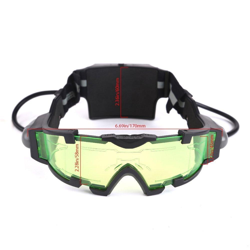 Gearmax/® Gafas de Visi/ón Nocturna con Azul Flip-fuera Llevaron Luces