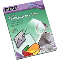 $24 » Apollo Transparency Film, Write-On, Clear, 100 Sheets/Pack (VWO100C-BE)