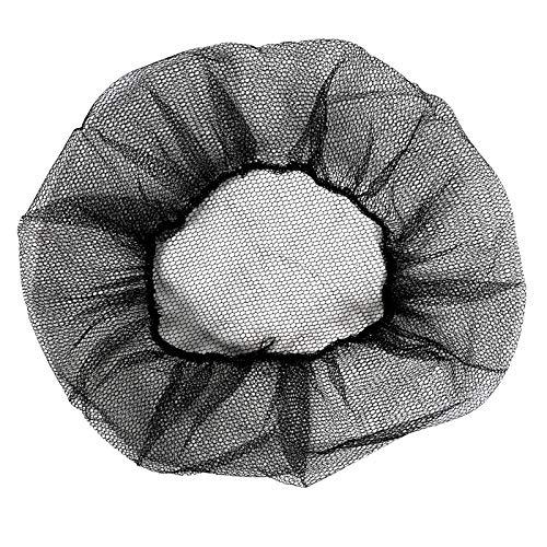 100 Pack Disposable Black Nylon Hairnets 18