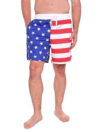 ee3a9011b2 Tipsy Elves USA American Flag Shorts - Men's Patriotic Shorts at ...