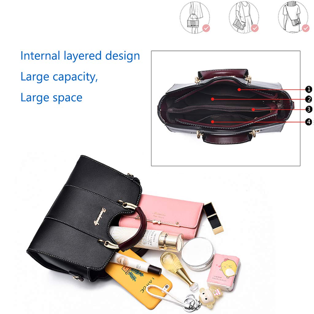 GYPING kvinnors designer topphandtag handväskor PU crossbody mode axelväska arbete shopping resa bankett kuvert, rosa Vitt