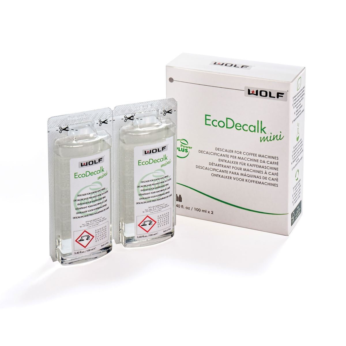 Wolf EcoDecalk Mini COFFEE SYSTEM DESCALING SOLUTION (1 Pack)