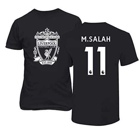 Amazon.com  Tcamp Liverpool  11 Mohamed Salah Premier League Men s T ... 8cde846a9