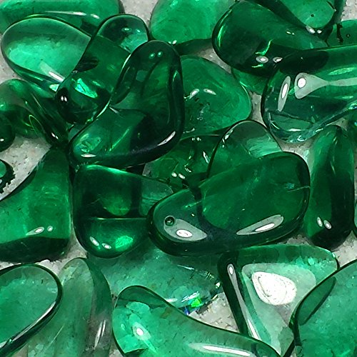 Green Obsidian - Green Obsidian Tumble Polished Crystal Stone, 3 pcs, Sizes 0.9 to 1.3 Inch, TS903