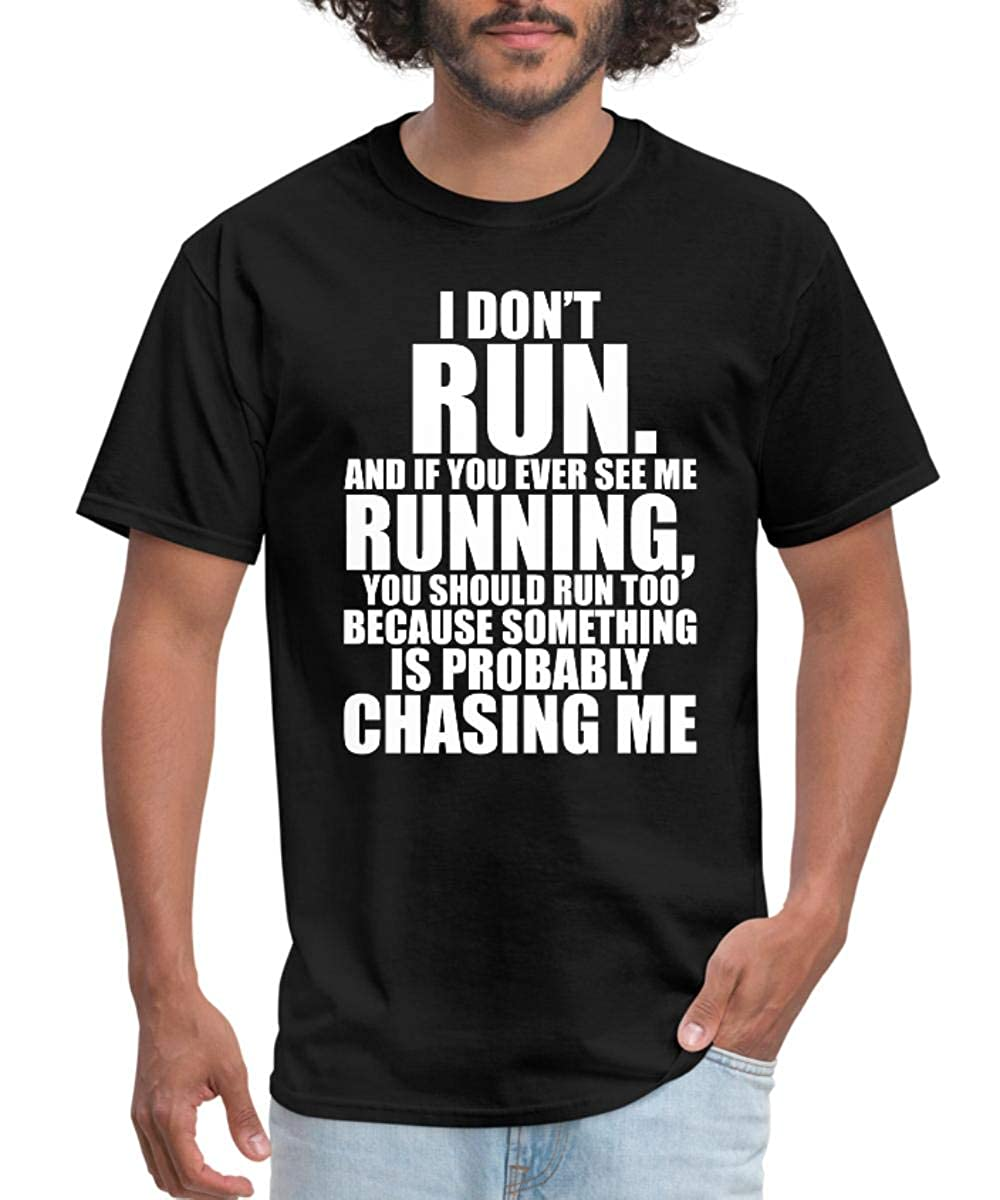bba317ce Amazon.com: Spreadshirt Running Funny Quote Men's T-Shirt: Clothing