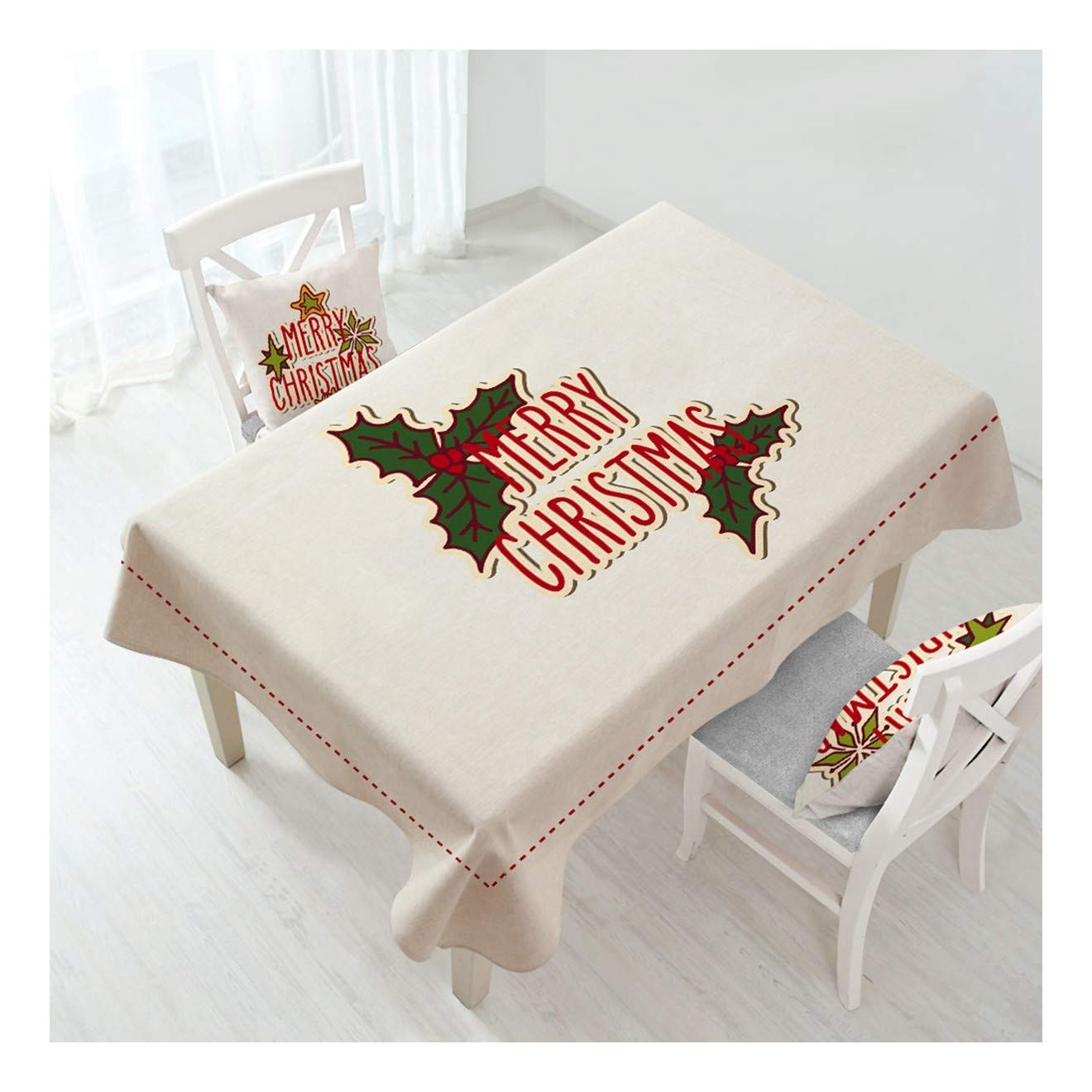 ZHAOXIANGXIANG Lavable Minimalista Cuadro Mat Caricatura Patrón De árbol De Navidad para La Decoración del Hogar Mantel(Sin Funda De Almohada),140Cmtimes;280Cm