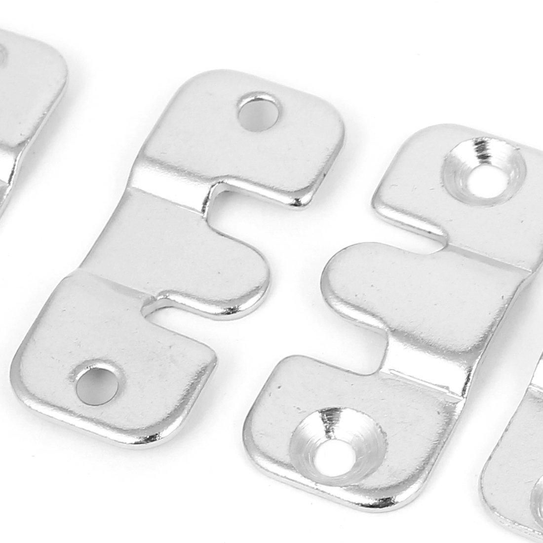 50 St/ück Silber Metallverbinder M/öbelverbinder Bettverbinder Couchverbinder de