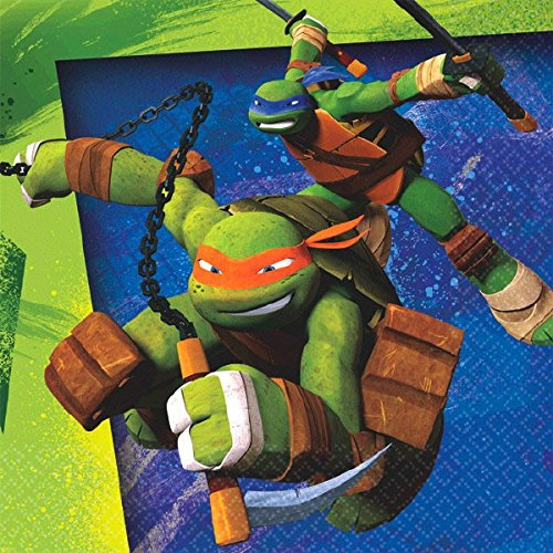 [16 Count Teenage Mutant Ninja Turtles Beverage Napkins, Multicolored] (Ideas For Halloween Costumes For Teenage Girl)