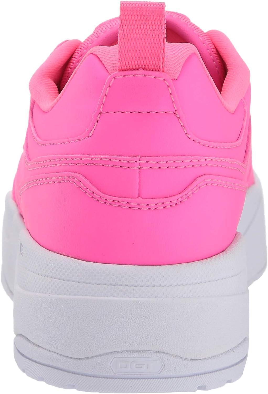 DC Women's E.tribeka Platform Skate Shoe Hot Pink