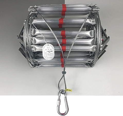 MAHFEI Escaleras De Evacuación, Escaleras De Cuerda De Alambre De Acero Plegables Escalera De Incendios Escalera De Seguridad De Emergencia Reutilizable Prevención De Fuego Aleación De Aluminio: Amazon.es: Hogar