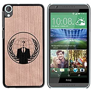 Funda Cubierta Madera de cereza Duro PC Teléfono Estuche / Hard Case for HTC Desire 820 / Phone Case TECELL Store / Anonymous Hacker Organización Libertad Anonymous Hacker Organization Freedom