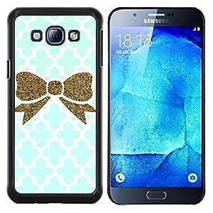 Planetar® ( Marroquí azul de Bling del oro blanco ) Samsung Galaxy A8 A8000 Fundas Cover Cubre Hard Case Cover