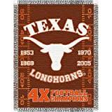 NCAA Texas Longhorns 48-Inch-by-60-Inch Commemorative Acrylic Tapestry Throw