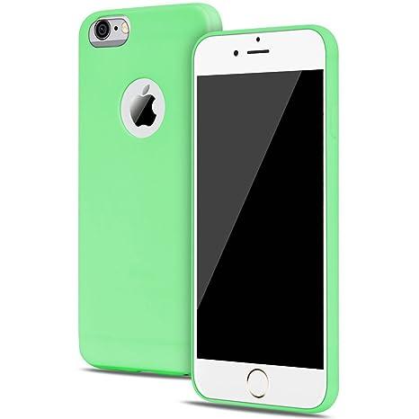 1955a4d82cf Funda iPhone 6 / 6S Carcasas Gel TPU Silicona Flexible Candy Colors Ultra  Delgado Ligero Goma