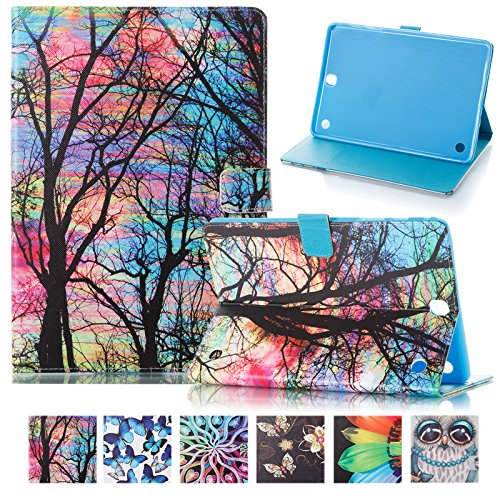 Galaxy Tab A 9.7 T550 Case ,UUcovers Protective Synthetic Leather Smart Wallet Case with [Auto Sleep Wake] Cute Cartoon Flip Stand Cover for Samsung Galaxy Tab A 9.7 T550-Oil Painting Tree