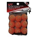 LFT Limited Flight Technology Practice Golf Balls  (18 Orange Soft Balls)