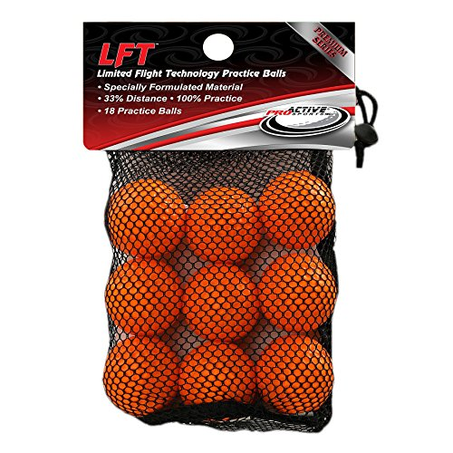 LFT Limited Flight Technology Practice Golf Balls  (18 Orange Soft Balls)