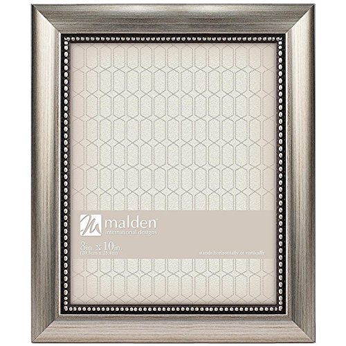 Designs Classic Mouldings Champagne Beaded Picture Frame, 8x10, Silver ()