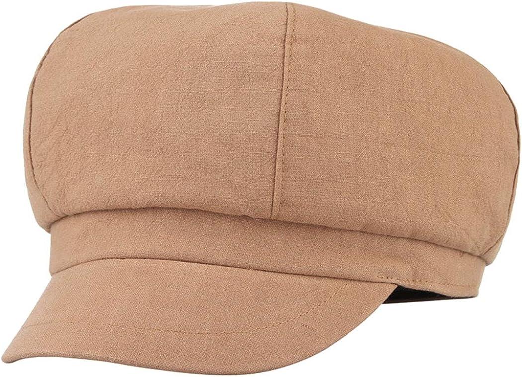 Linen Octagonal Beret Hats...