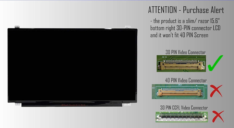 AJParts New 15.6 LED LCD Screen Compatible With for Toshiba PRO/R50-C-190 Laptop Razor Slim 1366/×768 WXGA HD Display 30 Pin Matte Panel