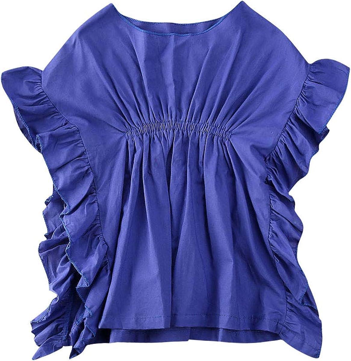 Wide.ling - Vestido con Volantes para bebé y niña, diseño de Mariposas, para Playa o Verano