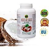 Perle di olio di cocco - Integratore alimentare che accelera il metabolismo e fornisce energia - Olio di cocco con trigliceridi a catena media - 90 capsule