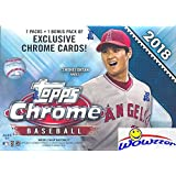 2018 Topps Chrome Baseball EXCLUSIVE Factory Sealed Retail Box with SPECIAL SEPIA REFRACTORS! Look for Rookies, Refractors & Auto's of Shohei Ohtani, Ronald Acuna, Gleyber Torres & Many More! WOWZZER