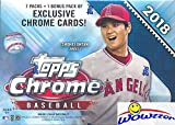 #7: 2018 Topps Chrome Baseball EXCLUSIVE Factory Sealed Retail Box with SPECIAL SEPIA REFRACTORS! Look for Rookies, Refractors & Auto's of Shohei Ohtani, Ronald Acuna, Gleyber Torres & Many More! WOWZZER