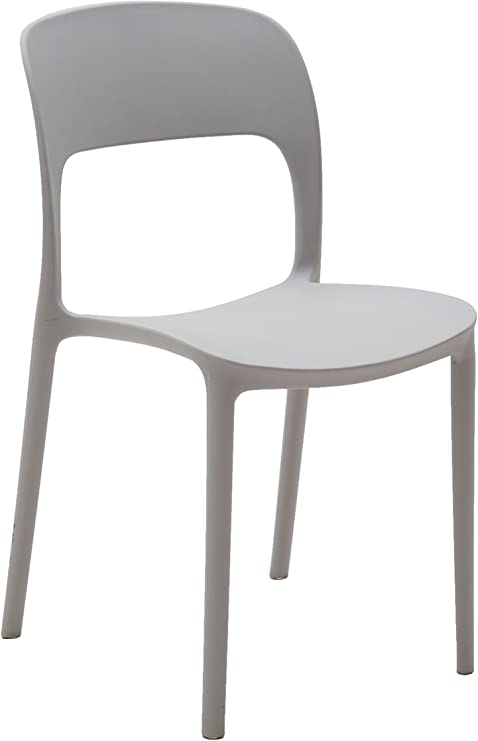 Bianco, 1 Tot/ò Piccinni Sedia Olbia Moderna in Polipropilene Impilabile per casa Sala da Pranzo Bar L45xP47xH82