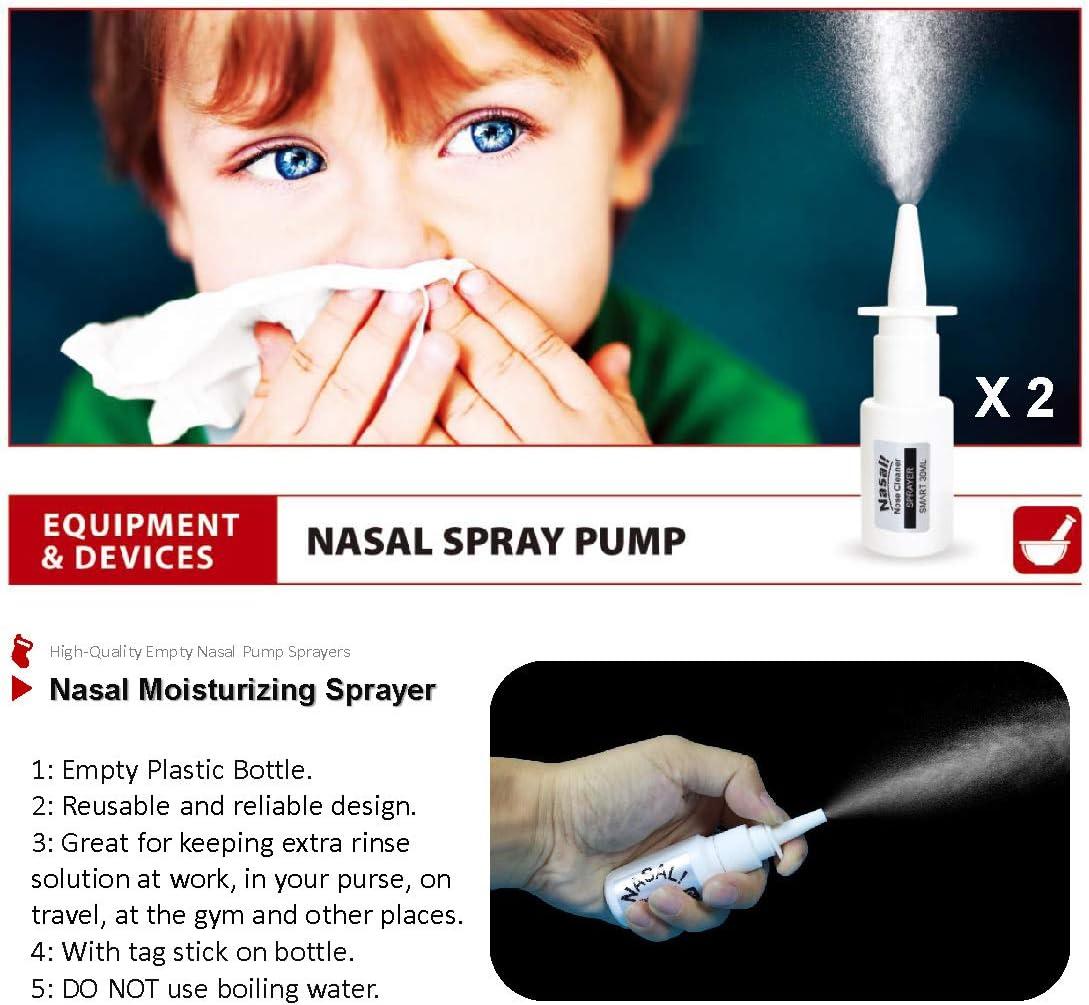 sal de irrigaci/ón nasal sal para lavar la nariz sal de enjuague sinusal sal de enjuague nasal TONELIFE 80 paquetes de sal Neti +2 pulverizador nasal sal nasal sal de enjuague nasal