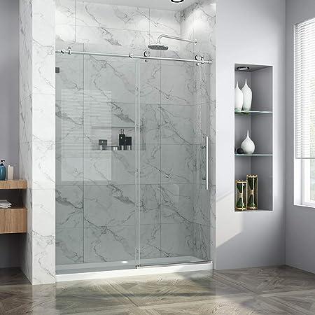 Elegant 60 In X 79 In Frameless Sliding Shower Doors 3 8 In