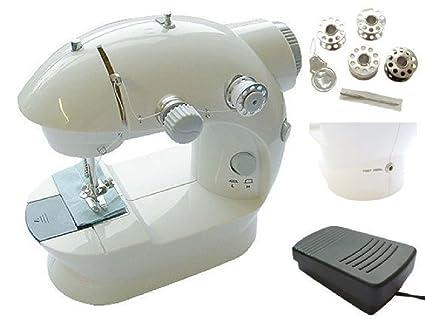 Nueva eléctrica máquina de coser de mano de punto de mini red/funciona con pilas