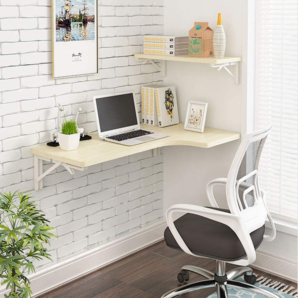 BETTY Tables Wall-Mounted Folding Table Dining Table Drop Leaf Computer Desk Note Desk Color : B, Size : 806040cm